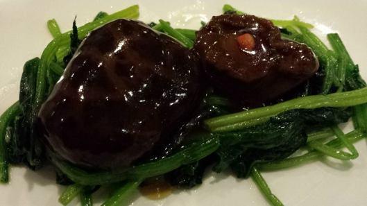 8-head abalone, mushroom & spinach