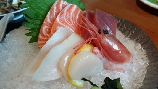 sashimi & unagi don set = S$34.80