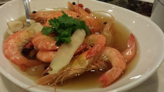 herbal drunken prawns