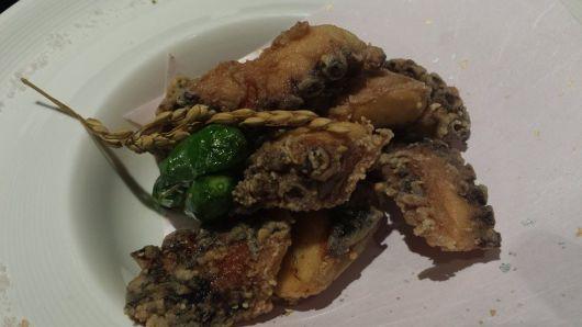 sous vide octopus tempura - S$30