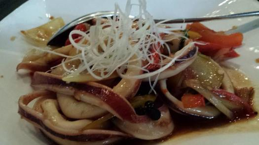 thai style basil prawns & squid