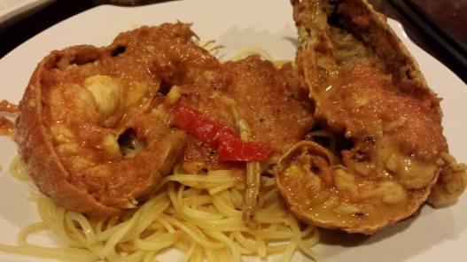 pink sauce crayfish pasta
