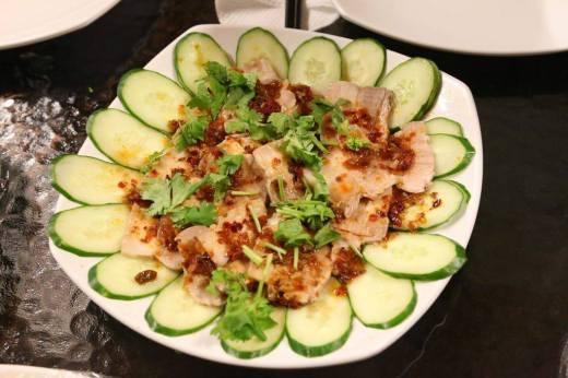 #5 蒜泥白肉 sichuan spicy garlic pork belly