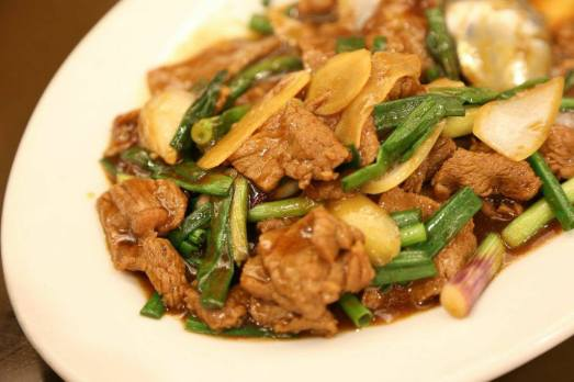 #4 beef with ginger & spring onions