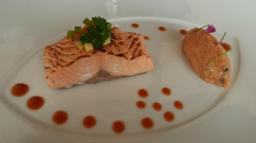 wild scottish salmon confit & tartare