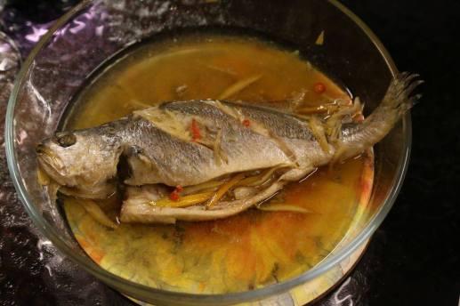 #9 steamed japnese seabass 小黄鱼