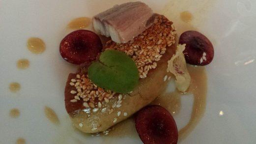 pan-seared foie gras, french river eel, cherries