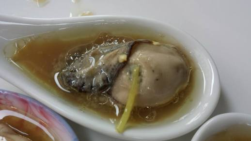 my contribution - steamed oysters