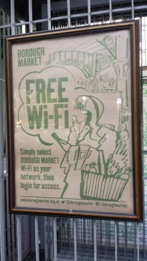 free wifi at borough market