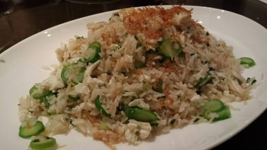 dried scallop egg white fried rice
