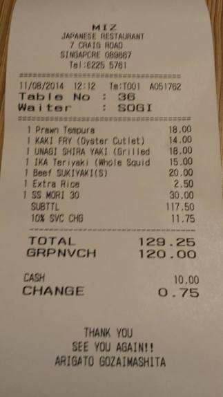 total bill after discounts = S$65.25nett