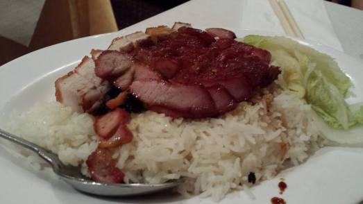 roast pork (烧肉)  & char siew on rice