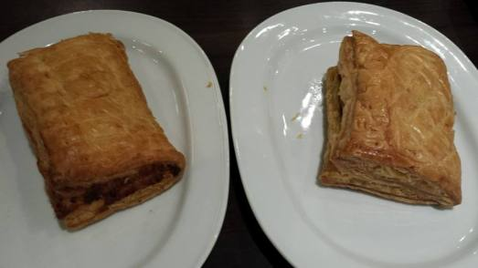 S$3.60 1 for 1 feuilete (1 curry chicken pie & 1 tuna pie)