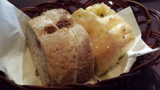 focaccia & walnut bread