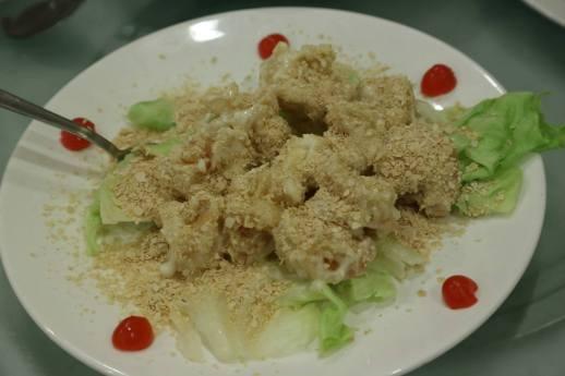 white cereal prawns