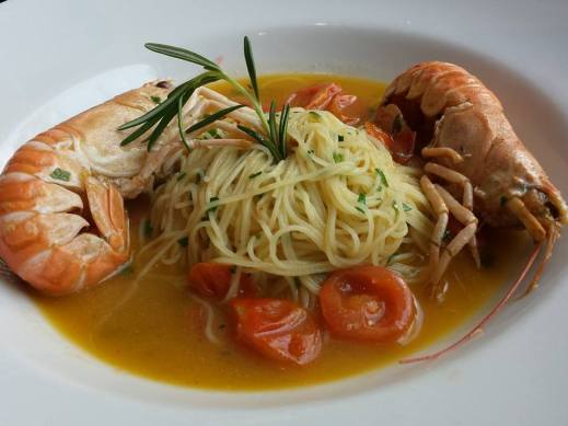 Euro16 scampi with capellini - outstanding