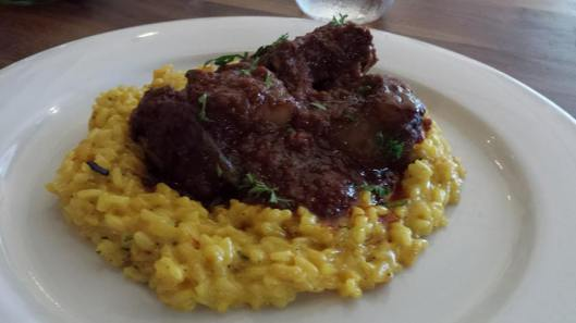 ossobuco with saffron risotto