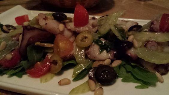 octopus salad - S$18