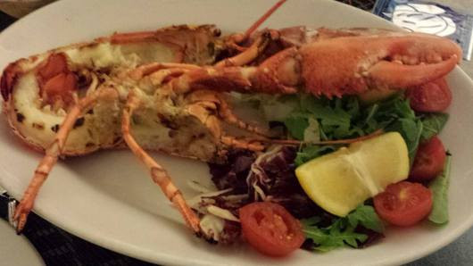 €26 grilled whole lobster
