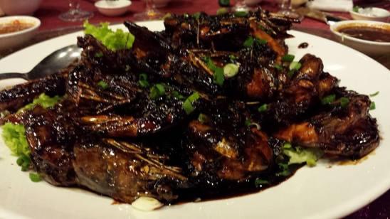 wok grilled king prawns (13/15)