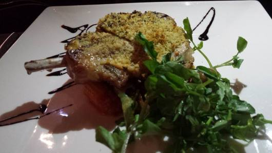 lightly breaded iberico pork chop