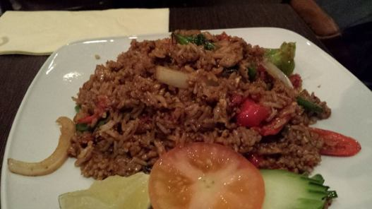 basil fried rice with pork