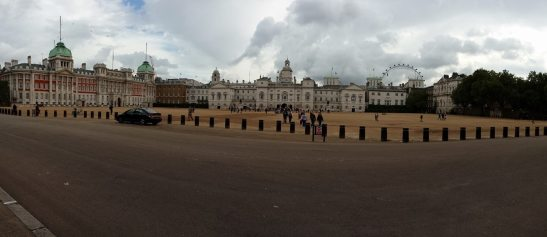 horse guards parade square in front of white hall
