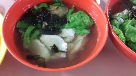 hoover fish porridge sliced fish soup