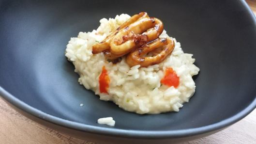 kabayaki squid risotto