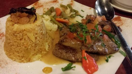 beef kofta with rice
