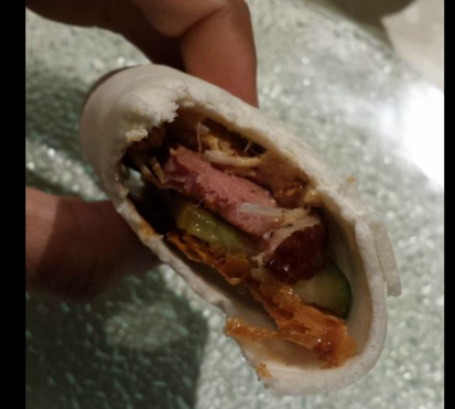 duck & duck liver wrap