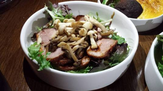 grilled pork neck salad