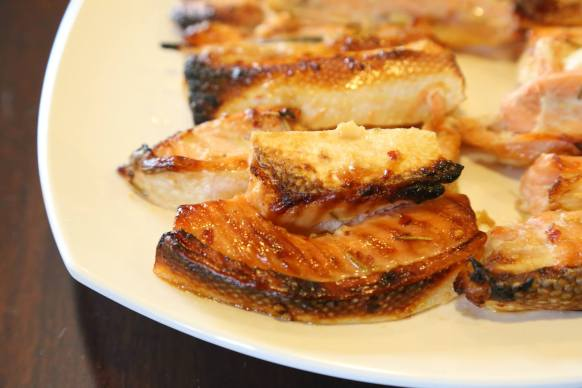 oven grilled miso salmon