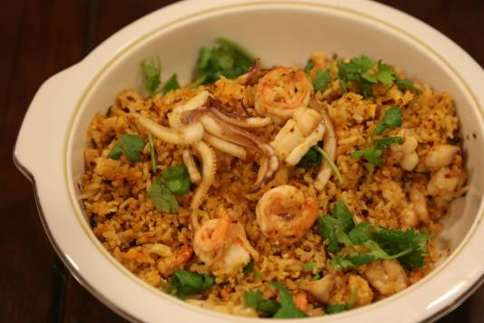 #8 spicy seafood fried rice