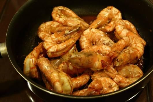 #9 dry wok king prawns