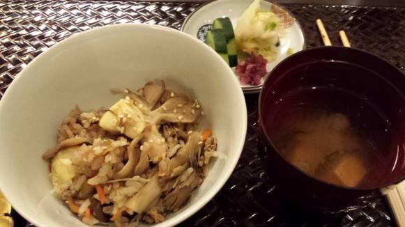 #9 gohan - chicken shimeji musroom rice