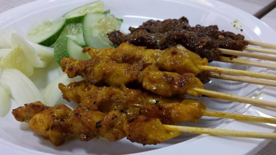 beef &  chicken satay
