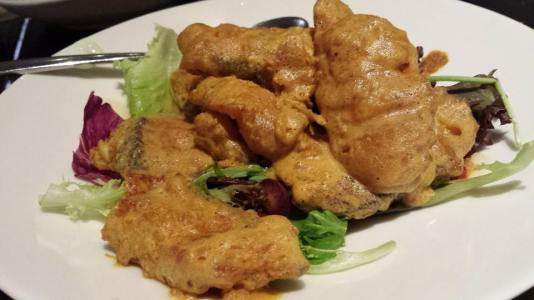 salted egg cod fish fillet