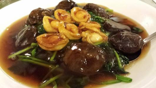 #13 abalones with mushrooms & spinach