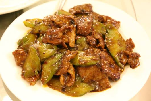 #6 beef with bitter gourd black bean sauce