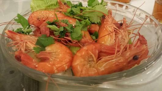 #7 steamed prawns
