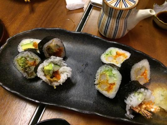 double prawn tempura maki (S$8.80)+softshell carb maki (S$8.80)