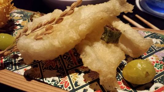 #4 chestnut tempura & sillago fish tempura