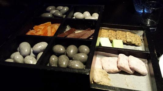#7 complimentary drawer tray dessert