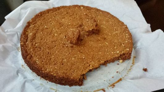 caramel cashew nut digestive biscuit base