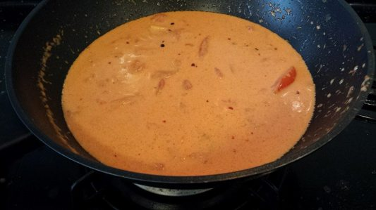 pink (creamy tomatoes) sauce for lobster pasta