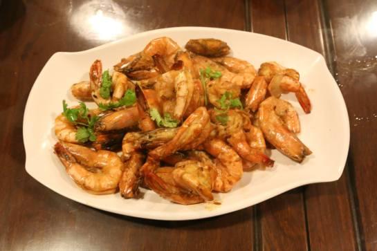 #8 dry wok prawns