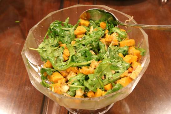 #1 pumpkin tofu salad