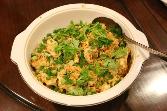 #9 spicy seafood fried rice