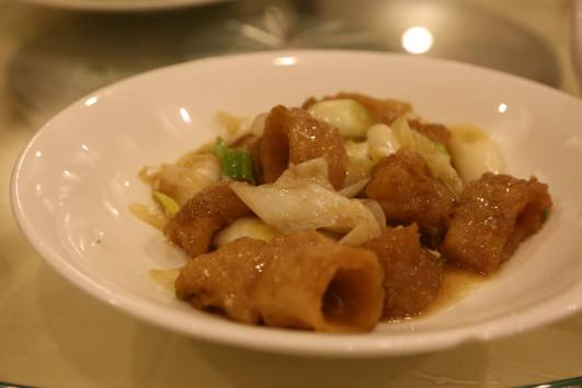 #4 fish maw with leeks